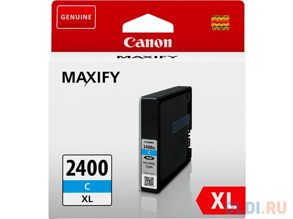 Картридж Canon PGI-2400XL C для MAXIFY iB4040, МВ5040 и МВ5340. Голубой. 1500 страниц.