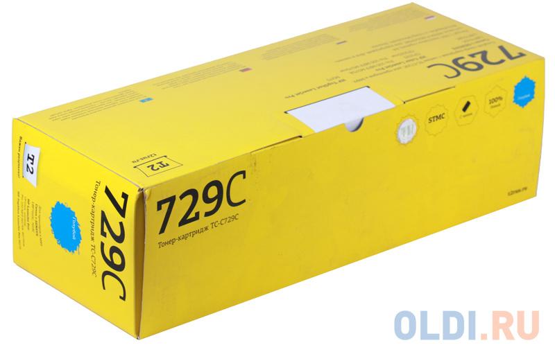 Фото - Картридж T2 TC-C729C Cyan (с чипом) / Canon 729C картридж t2 tc c718c cyan с чипом