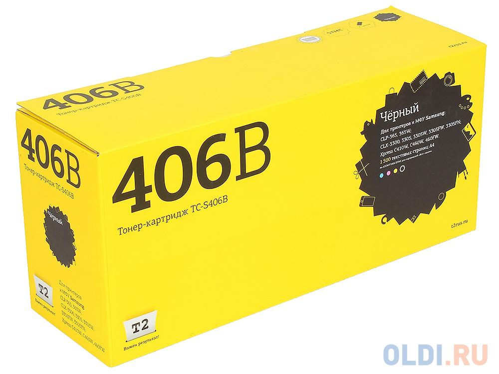 Картридж T2 TC-S406B для Samsung CLP-365/365W/CLX-3300/3305/3305W/3305FW/3305FN/Xpress C410W/C460W/460FW черный 1500стр