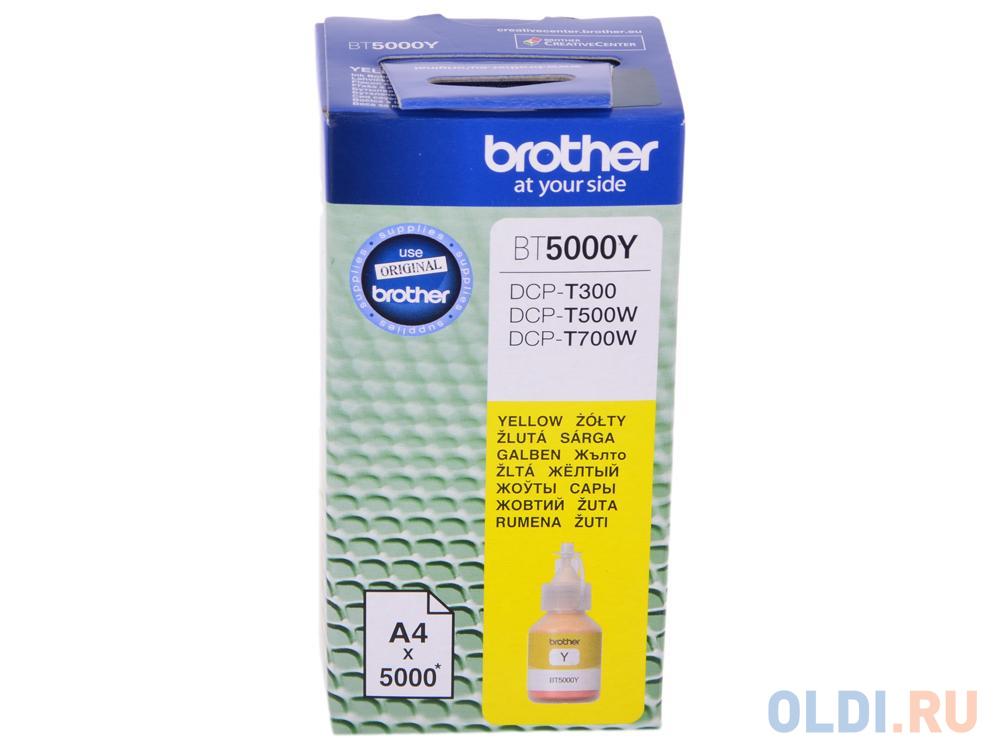 Бутылка с чернилами Brother BT5000Y желтый для DCP-T300/DCP-T500W/DCP-T700W (5000стр)