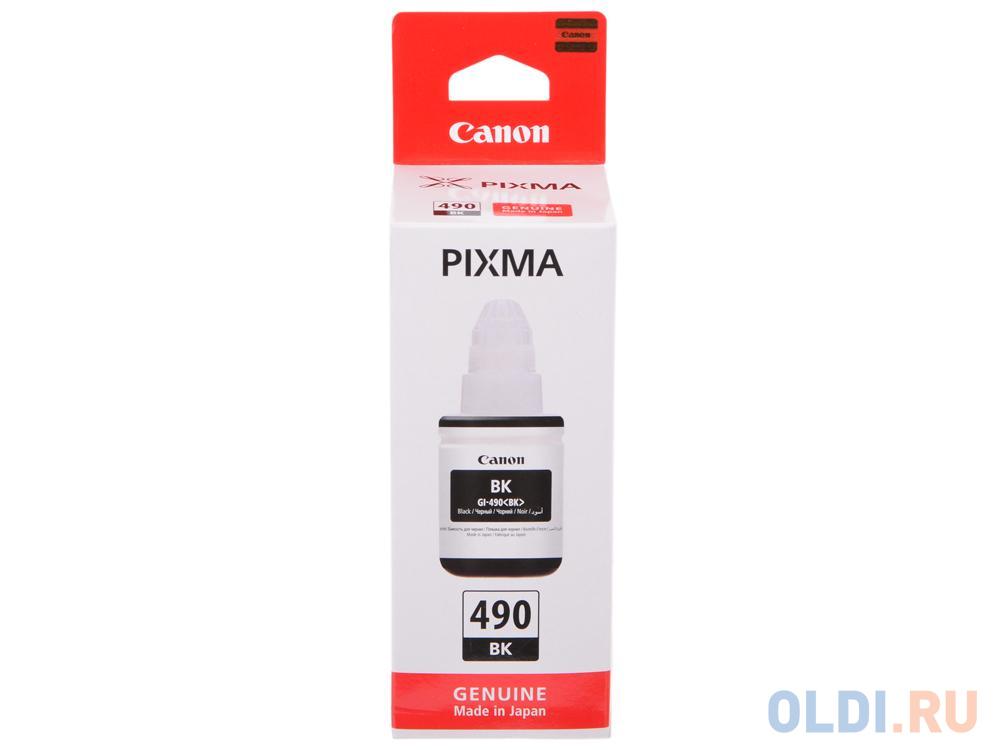 Чернила Canon GI-490 BK для G1400/2400/3400 черный 0663C001