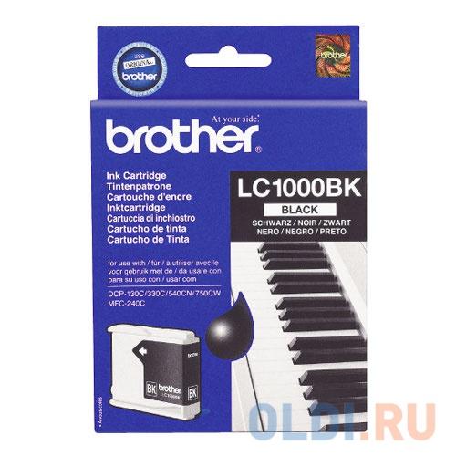 Картридж струйный Brother LC1000BK картридж струйный brother lc567xlbk