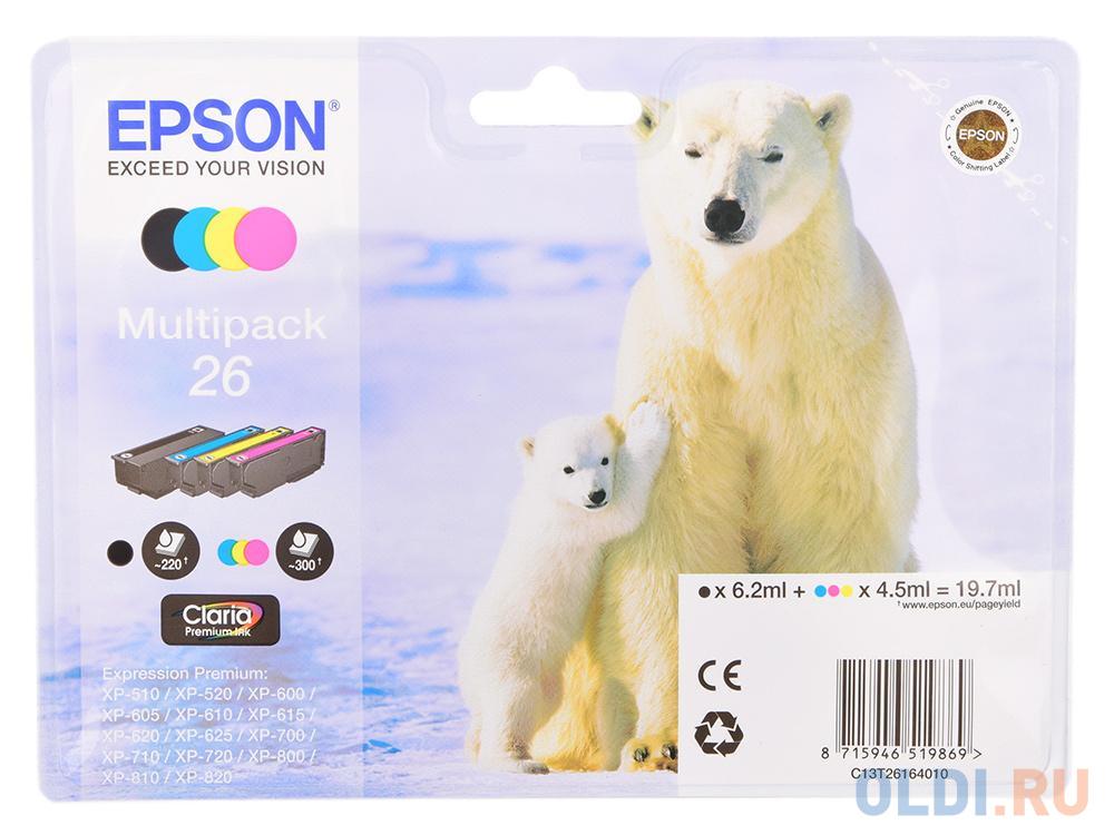 Картридж Epson Original T261640 комплект для XP-600/XP-700/XP-800 картридж epson c13t26124012 для epson xp 600 700 800 голубой