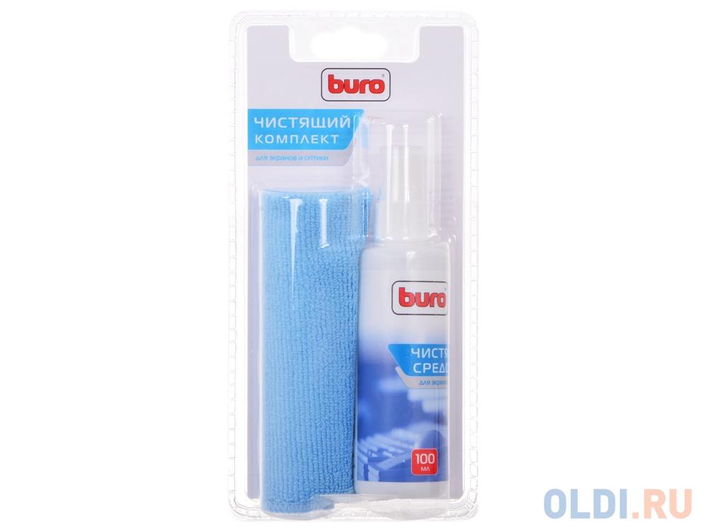 Чистящий набор Buro BU-S/MF для экранов и оптики, блистер/микрофибра/спрей 100мл unicum средство для офисной техники и экранов чистящий спрей