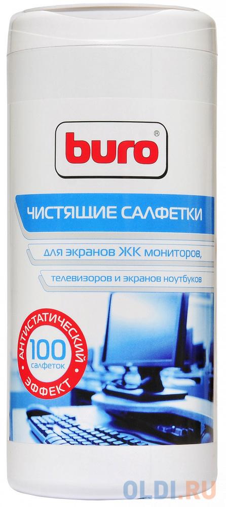 Фото - Влажные салфетки BURO BU-TSCREEN 100 шт влажные салфетки buro bu tmix 65 шт