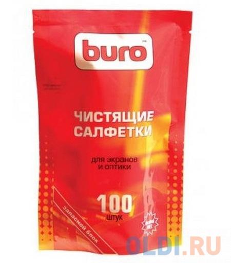 Фото - Влажные салфетки BURO BU-Zscreen 100 шт влажные салфетки buro bu tmix 65 шт