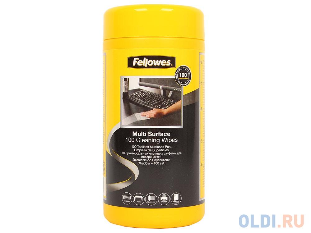 Фото - Салфетки Fellowes чистящие для поверхностей в тубе, дерматолог. безопасны, 100 шт (UK) чистящие салфетки fellowes lamirel la 5144001 100 шт