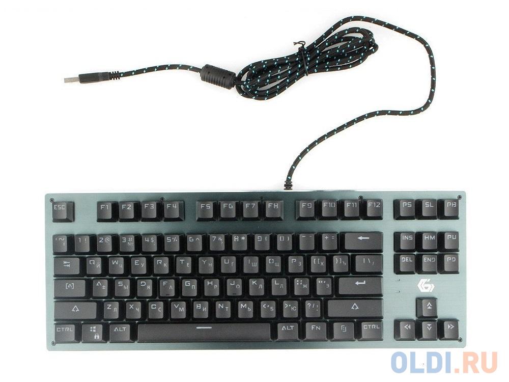 Клавиатура механическая Gembird KB-G540L, USB, черн, переключатели Outemu Blue, 87 клавиши, подсветка Rainb