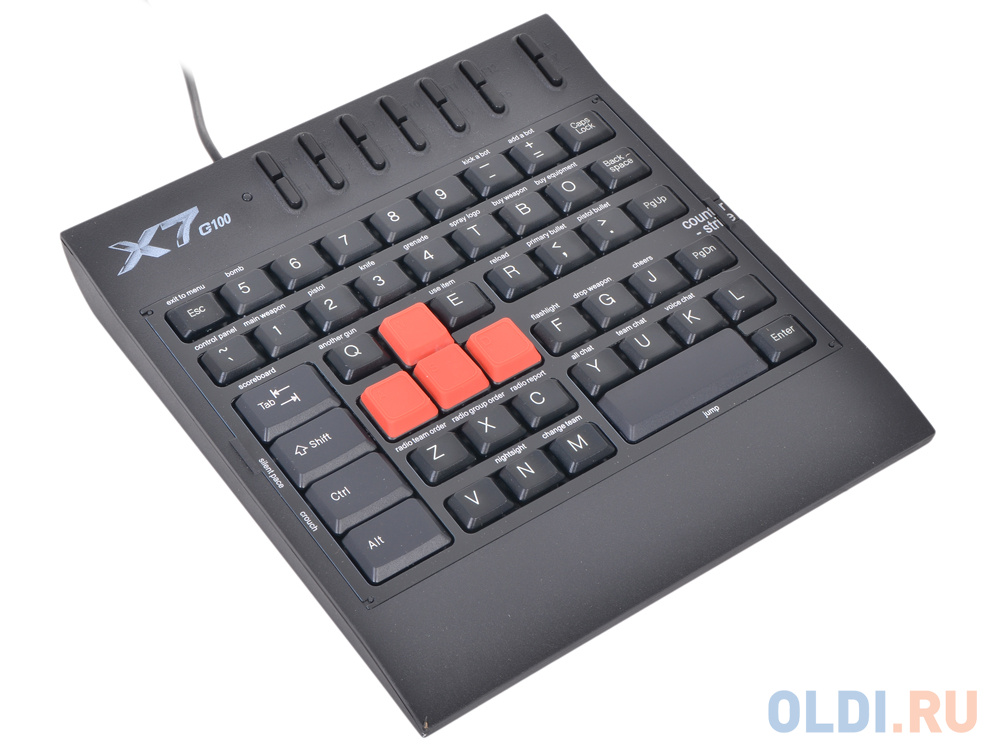 Клавиатура A4 Tech X7-G100 Black USB фото