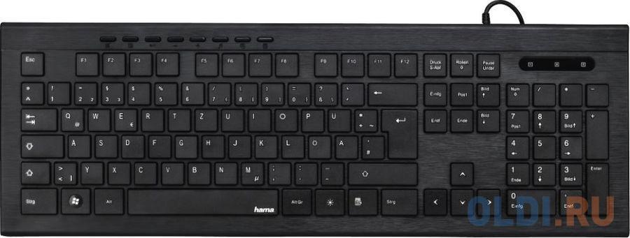 Клавиатура проводная HAMA Anzano USB черный hama riano черный