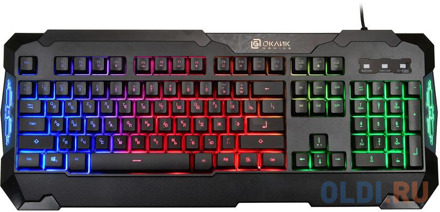 Клавиатура проводная Oklick 721G USB черный