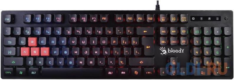 Клавиатура проводная A4TECH B160N USB черный