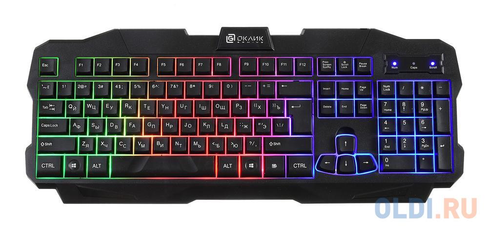 Клавиатура проводная Oklick 757G USB черный
