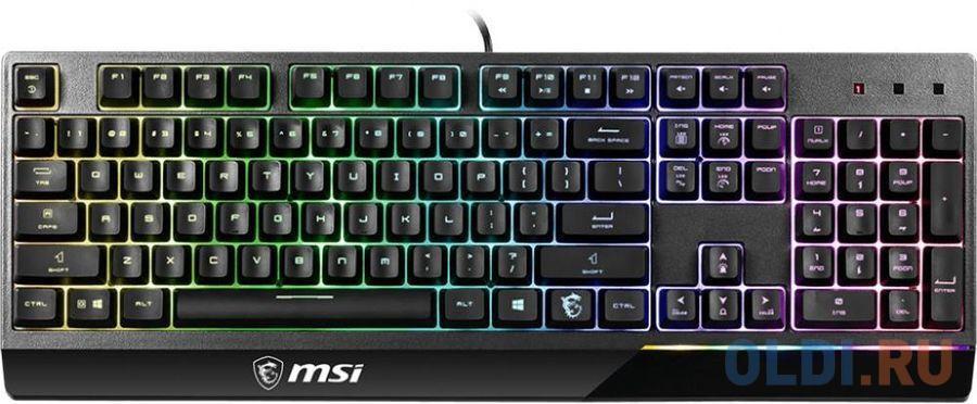 Фото - Клавиатура проводная MSI VIGOR GK50 LOW PROFILE USB черный клавиатура msi gk50 elite ru usb черный [s11 04ru226 cla]