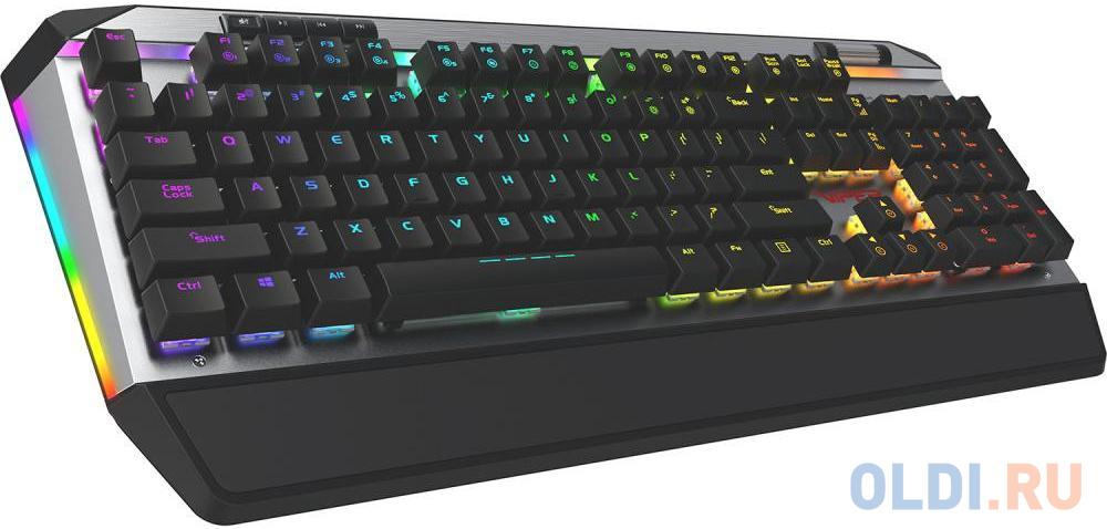 Игровая клавиатура Patriot Viper V765 (Kailh red box switches, аллюминиевая рама, RGB подсветка, водо-пылезащита, USB)