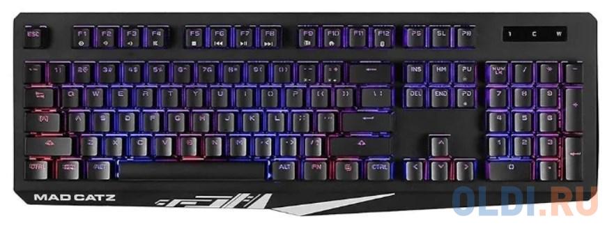Игровая клавиатура Mad Catz S.T.R.I.K.E. 2 чёрная (мембрана, RGB подсветка, аллюминиевая рама, USB)