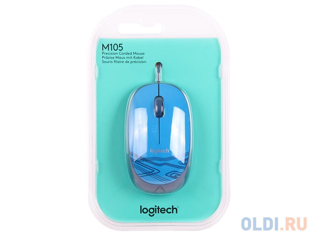 Мышь (910-003114) Logitech Mouse M105 Blue