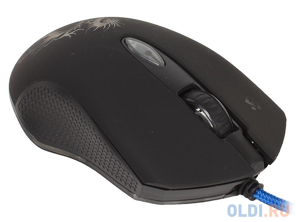 Фото - Мышь Defender Sky Dragon GM-090L Black USB проводная, оптическая, 3200 dpi, 5 кнопок + колесо мышь проводная defender venom gm 640l чёрный usb 52640