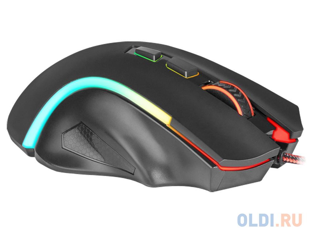 Мышь игровая проводная Griffin оптика,RGB,7200dpi Redragon
