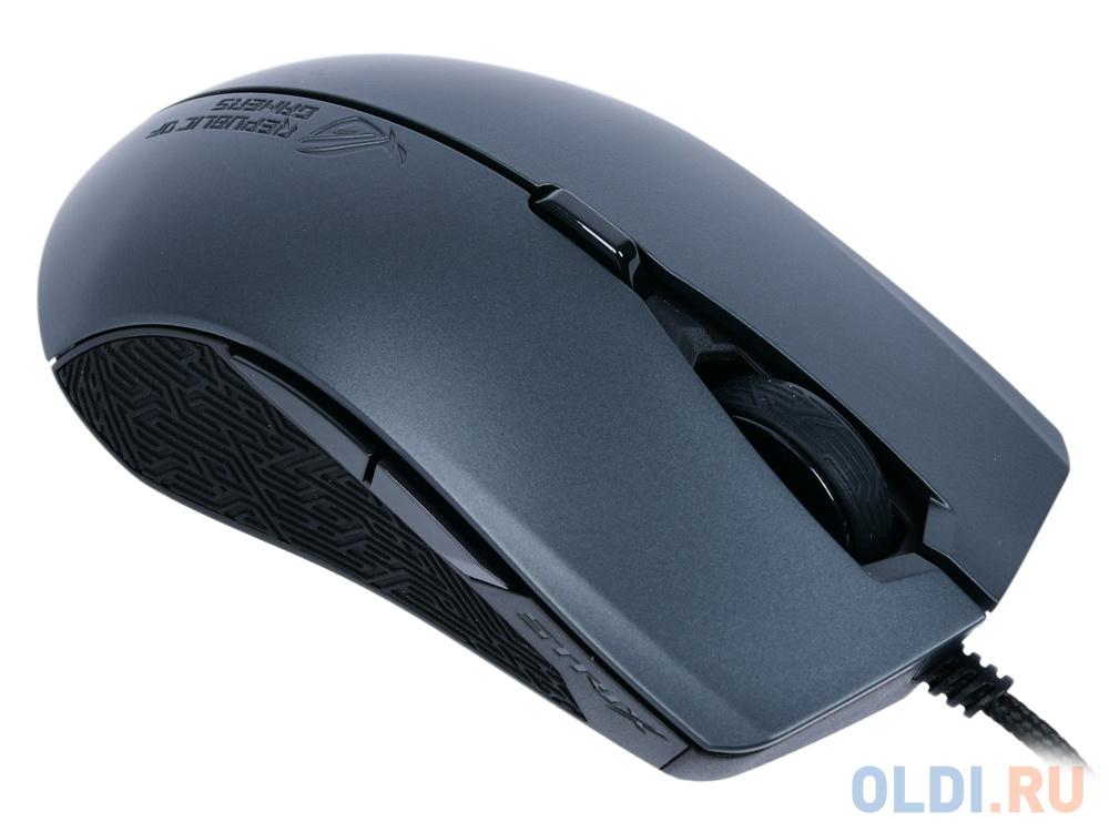Игровая мышь ASUS Strix Evolve (8 кнопок, 7200 dpi, Black, USB, 90MP00J0-B0UA00) мышь asus rog strix evolve