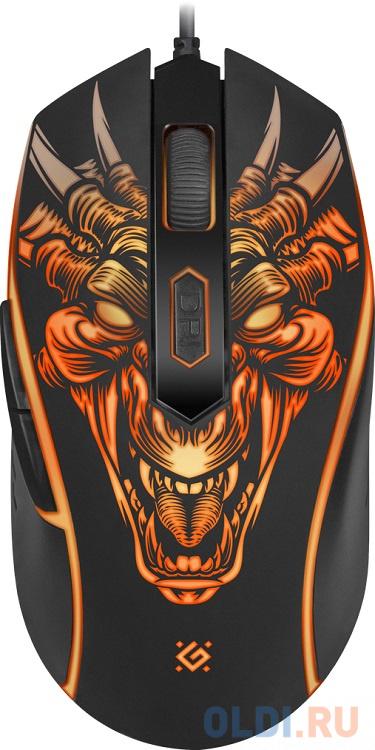 Фото - Мышь игровая Monstro GM-510L оптика, USB, 6 кнопок, 3200dpi DEFENDER мышь defender witcher gm 990 52990 rgb 7кнопок 3200dpi