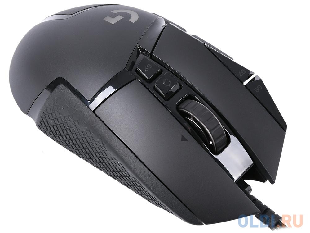 Мышь беспроводная Logitech G502 Lightspeed USB + радиоканал чёрный 910-005567 мышь logitech g502 lightspeed