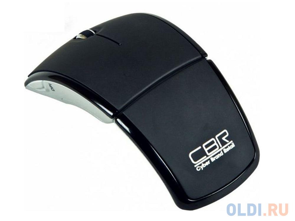 Мышь беспроводная CBR CM-610 Black USB(Radio) мышь cbr simple s1 white black usb