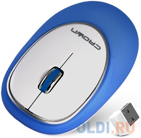Мышь беспроводная Crown CMM-931W синий белый USB мышь беспроводная crown cmm 928w bear usb