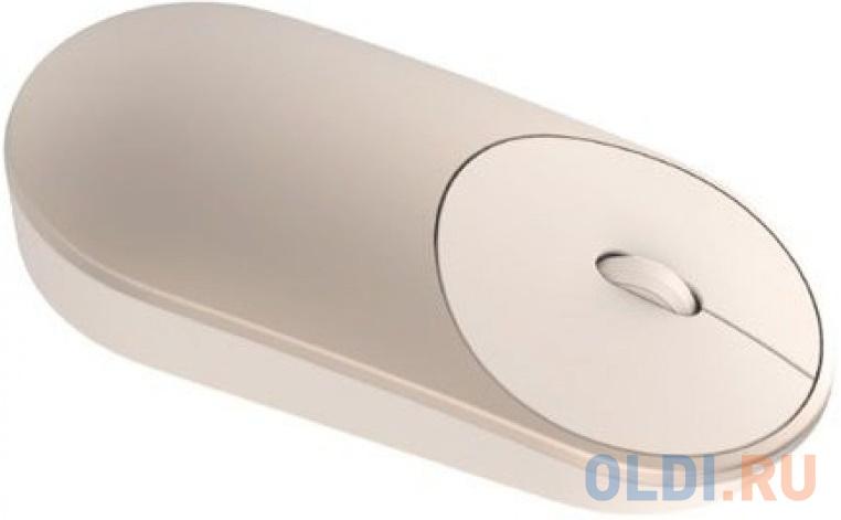 Мышь беспроводная Xiaomi Mi Portable Bluetooth золотистый.