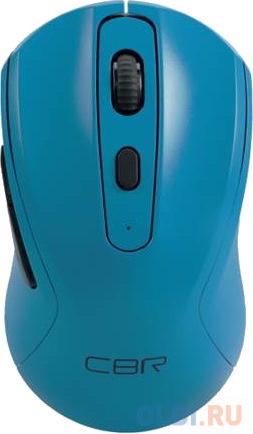 Мышь беспроводная CBR CM 522 синий USB + радиоканал мышь cbr cm 150 blue usb