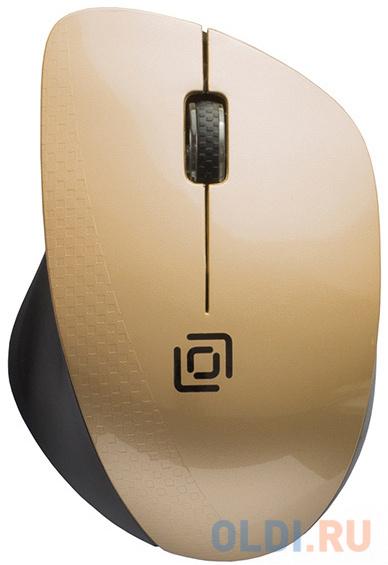 Фото - Мышь Oklick 695MW черный/золотистый оптическая (1000dpi) беспроводная USB (3but) мышь oklick 665mw оптическая черная