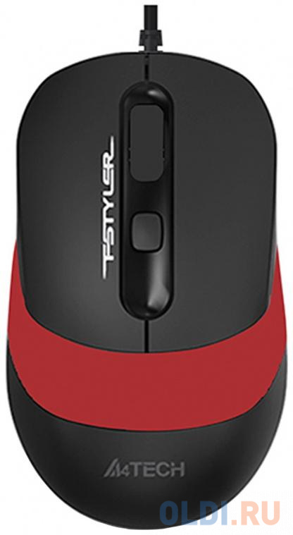Мышь проводная A4TECH Fstyler FM10 чёрный красный USB