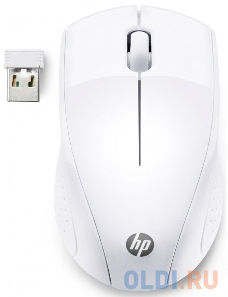 Мышь беспроводная HP Wireless 220 белый USB мышь беспроводная jet a r200g white белый usb bluetooth