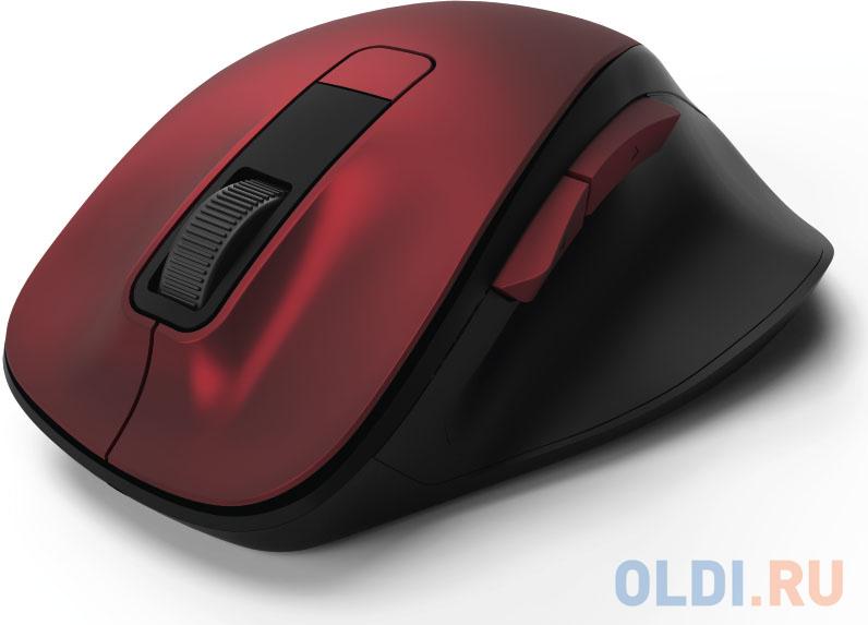 Мышь беспроводная HAMA MW-500 чёрный красный USB 00182634 мышь hama mw 500 оптическая беспроводная usb серый [00182633]