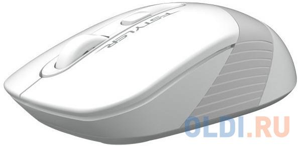 Фото - A-4Tech Мышь FStyler FG10 WHITE белый/серый оптическая (2000dpi) беспроводная USB [1147569] мышь a4tech fstyler fg10 черный оранжевый оптическая 2000dpi беспроводная usb 4but