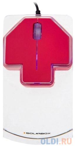 Мышь проводная Solar Box X07 красный USB