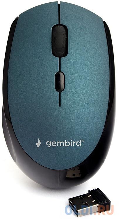 Фото - Мышь беспроводная Gembird MUSW-354-B синий USB мышь gembird musw 400 g gold usb