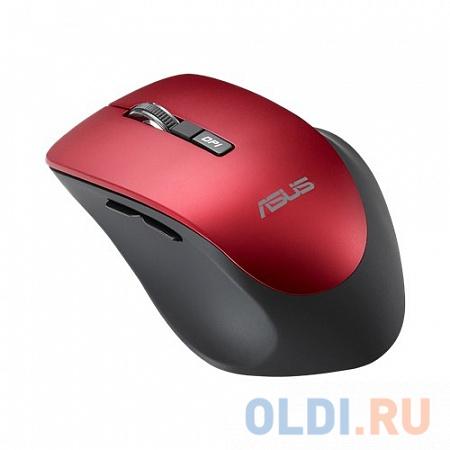Мышь беспроводная ASUS WT425 красный USB + Bluetooth 90XB0280-BMU030 мышь беспроводная jet a r200g white белый usb bluetooth