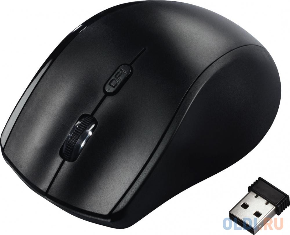 Мышь беспроводная HAMA Riano чёрный USB + Bluetooth мышь беспроводная jet a r200g white белый usb bluetooth