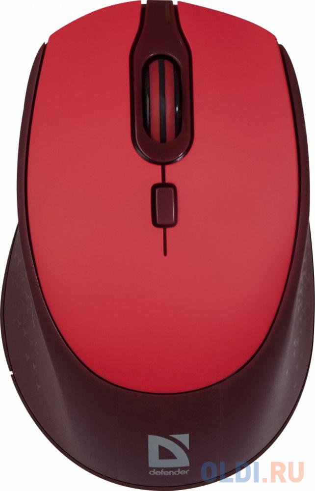 Мышь беспроводная Defender Genesis MB-795 белый USB + радиоканал мышь defender genesis mb 795 red 52797