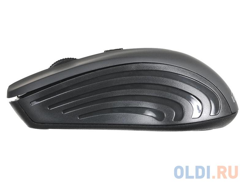 Фото - Мышь Oklick 545MW черный/черный оптическая (1600dpi) беспроводная USB (4but) компьютерная мышь oklick 545mw черный серый usb