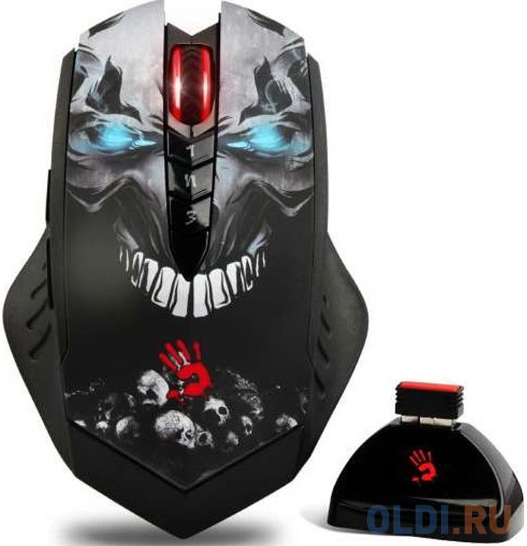 Мышь беспроводная A4TECH Bloody R80 Skull чёрный USB недорого