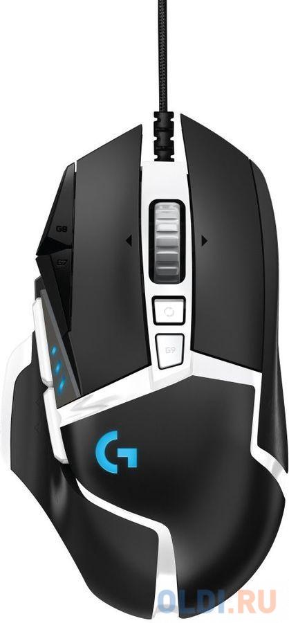 Мышь проводная Logitech G502 SE HERO USB чёрный белый мышь logitech g502 lightspeed