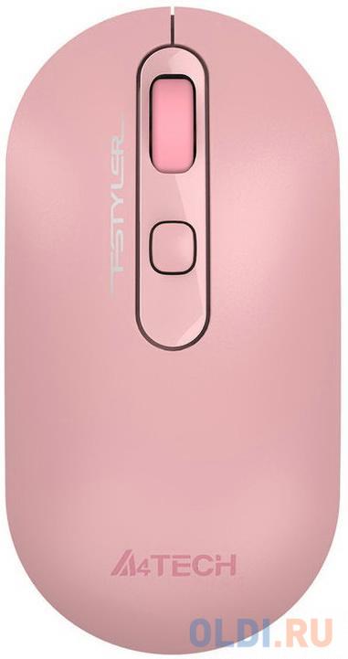Мышь A4 Fstyler FG20 розовый оптическая (2000dpi) беспроводная USB для ноутбука (4but)