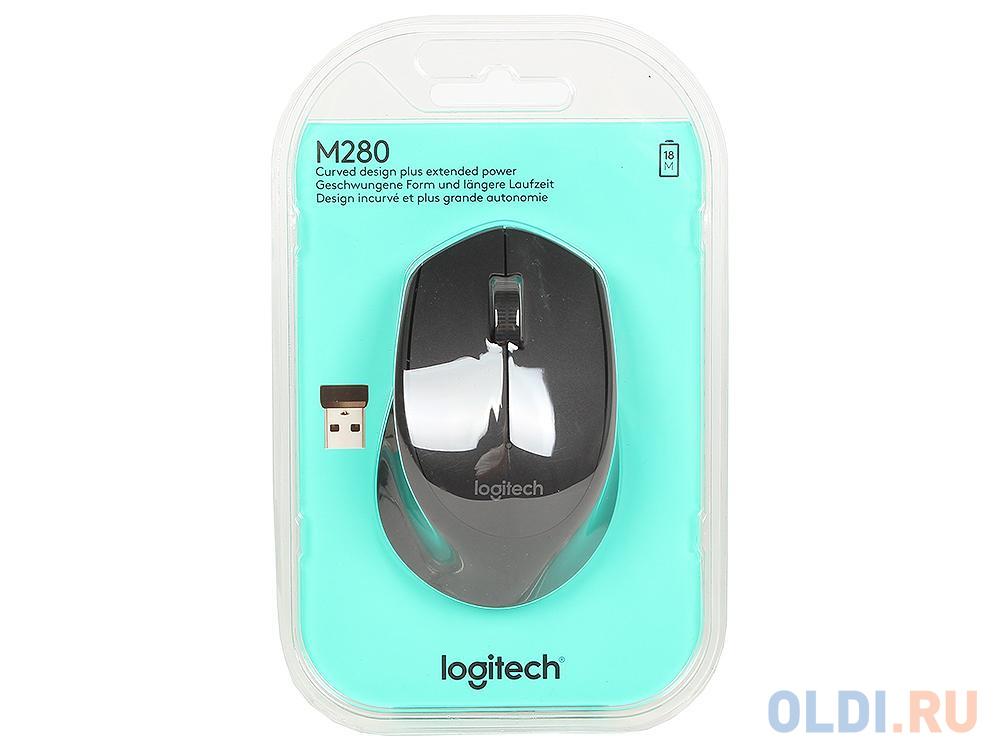 Мышь (910-004287) Logitech Wireless Mouse M280 Black EWR