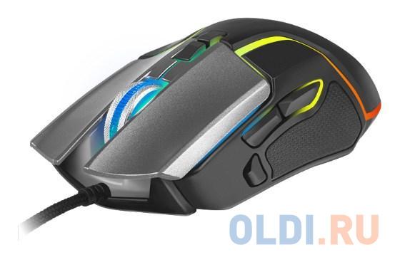 Игровая мышь SVEN RX-G960 (7+1кл. 500-6400 DPI, ПО, грузики, подсветка, сменные панели, игров. упак)