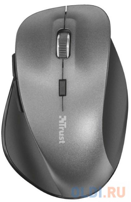 мышь trust varo wireless ergonomic mouse black usb Мышь беспроводная TRUST Ravan Wireless Mouse серый USB + радиоканал