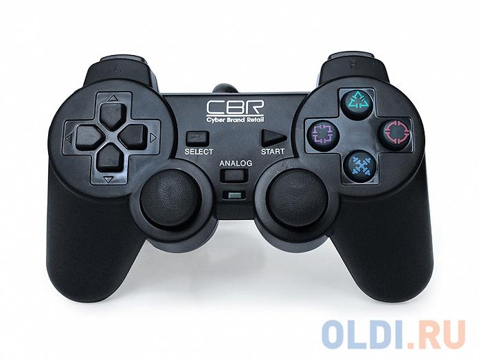 Фото - Геймпад CBR CBG 950 для PC\\PS2\\PS3, проводной, 2 вибро мотора, 12 кнопок, USB геймпад cbr cbg 905 проводной usb черный