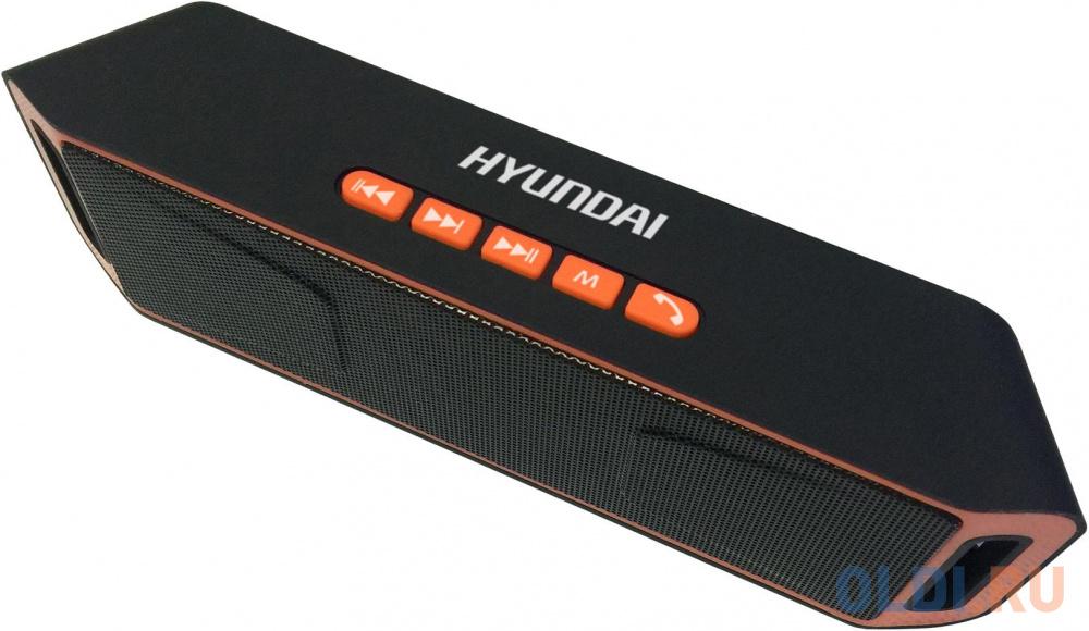 Колонки Hyundai H-PAC160 1.0 черный/оранжевый 6Вт беспроводные BT