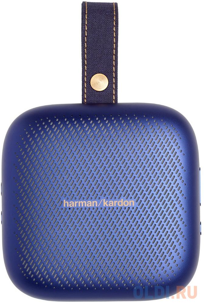 Колонка порт. Harman Kardon Neo синий 3W 1.0 BT 1000mAh (HKNEOBLU) колонка порт sony srs xb01 синий 3w 2 0 bt 20м 600mah 1xaa без бат srsxb01l ru2